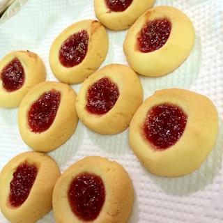 イチゴジャム米粉クッキー