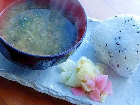 まな板なし5分!江戸庶民風❤具無し味噌汁の朝定食♪
