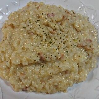 アルデンテが美味しい!生米から作るチーズリゾット!