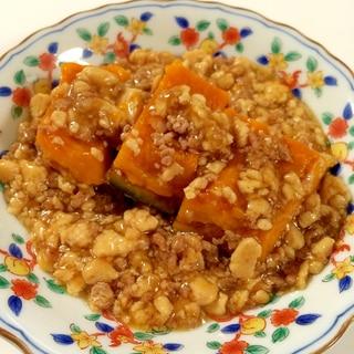 豆腐で節約&ヘルシー!かぼちゃのそぼろあんかけ