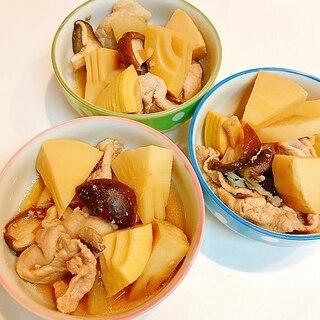 筍と椎茸と豚肉の煮物☆