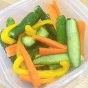 彩り野菜の簡単浅漬け♪