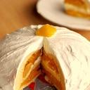 かぼちゃと栗のドーム型ケーキ♪