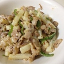 超簡単☆長芋と豚肉のマスタード炒め