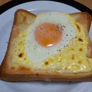 チンで 簡単! ハム エッグ チーズ トースト