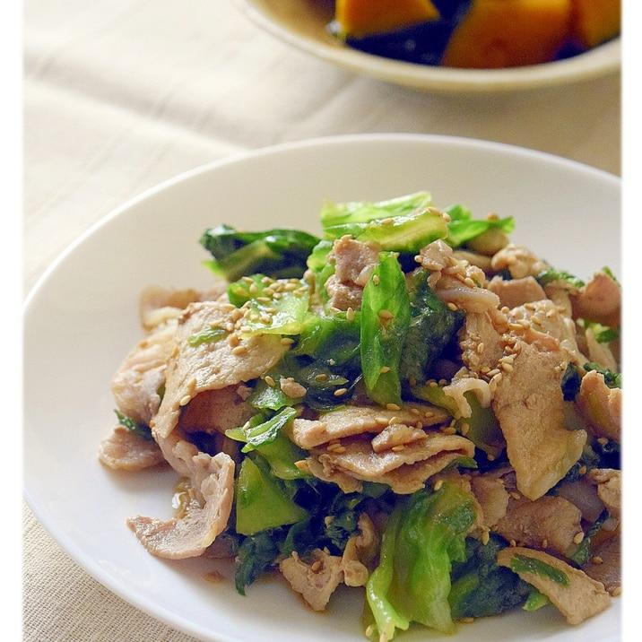 豚肉とレタスの炒め物