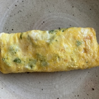 モロッコインゲンとネギの卵焼き