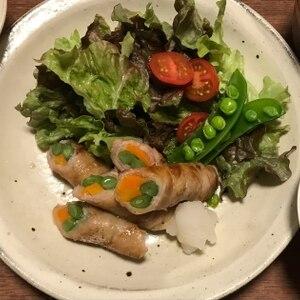 野菜の肉巻き&鮭弁当