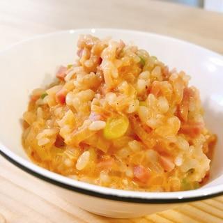 冷やご飯deピリリと辛い韓国風チーズリゾット