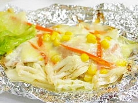 ホイルにチーズが付かない生鮭のチーズホイル焼き