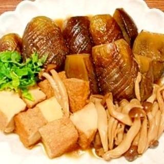 茄子と絹揚げ、シメジ☆煮物