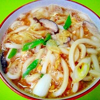 白菜と椎茸のかき玉うどん