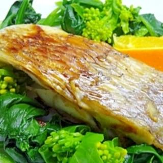 フライパンで鯛の塩グリル