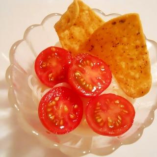 小鉢に☆トマトとドリトスで♪ イタリアン素麺