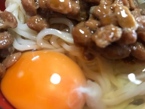 夏におすすめ!卵と納豆のさっぱりそうめん♫