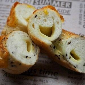 ダブルチーズごまベーグル