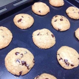 オリーブ油de♡さっくり全粒粉チョコチップクッキー