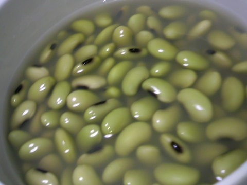青大豆の戻し方♡香り豆♡