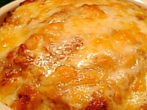 残り物のミートソースで作る豆腐のチーズ焼き♪