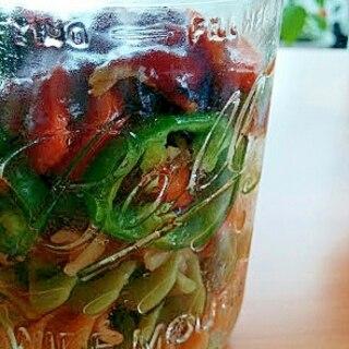 サラダ用マカロニでメイソンジャーナポリタン