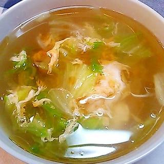 レタスもりもり♪簡単和風スープ