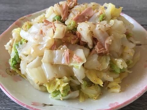 白菜とツナの中華和え♪