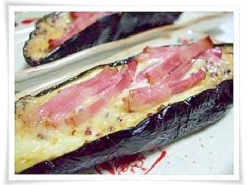茄子のマヨマスタード焼き