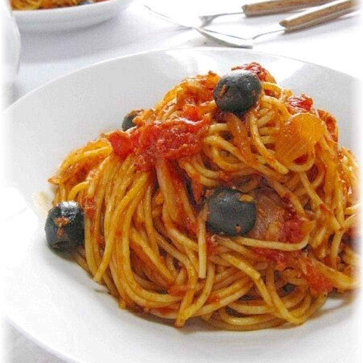 缶 ツナ パスタ トマト