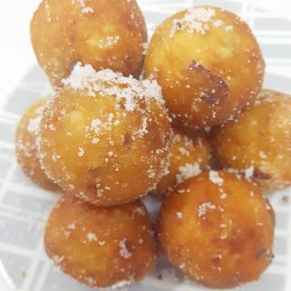 簡単&モチモチ(^^)片栗粉&サツマイモドーナツ♪