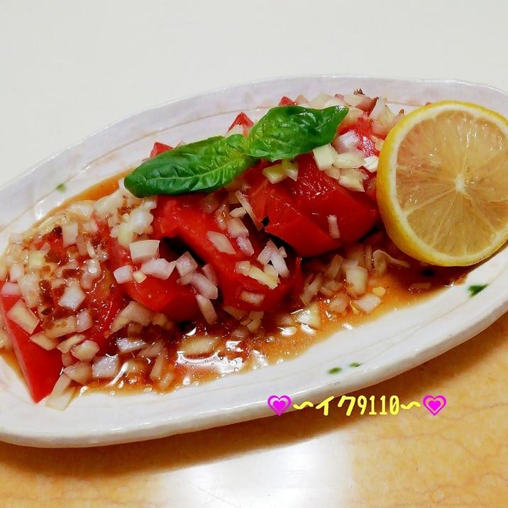 トマトの和風オニオンサラダ