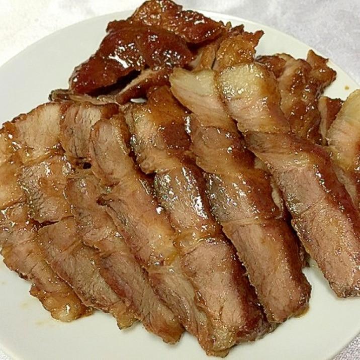 とんかつ用のお肉で簡単煮豚