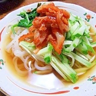 盛岡冷麺で!野菜たっぷりサラダ風冷麺