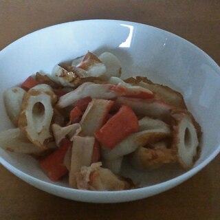 カニかまと竹輪の炒め物