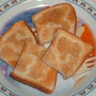 食パンで作るメープルラスク
