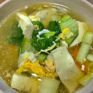 チンゲン菜と玉子スープ