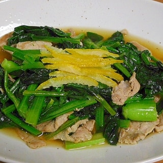 時短めんつゆを使おう ほうれん草と豚肉の煮びたし