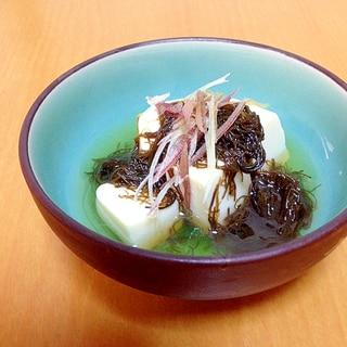 お豆腐とみょうがの小鉢( ´ ▽ ` )ノ