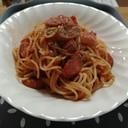 ケチャップとウインナーのスパゲッティ