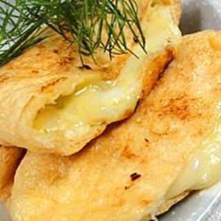油揚げのネギチーズ焼き