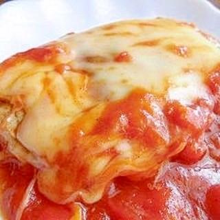 トマトソースのチーズポークソテー