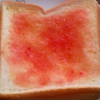 桜でんぷで彩り綺麗!シュガートースト!