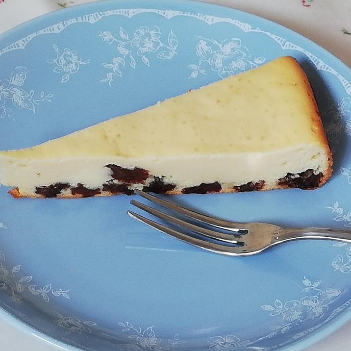 HBで簡単!大人のための夜用レーズンチーズケーキ