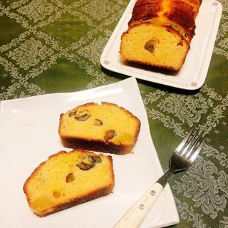 栗と白あんのカステラ風パウンドケーキ