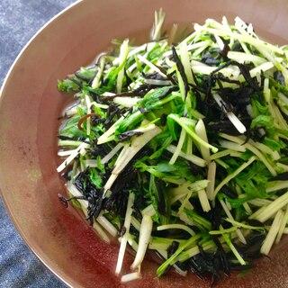 水菜とひじきのお浸し♩(前日の作り置きにも)