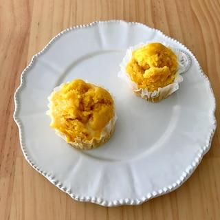 離乳食に☆かぼちゃチーズ蒸しパン