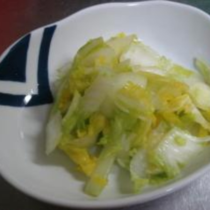5分レシピ!簡単白菜の塩漬け