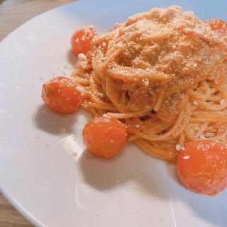 ミニトマトころころっと!トマトシーチキンパスタ