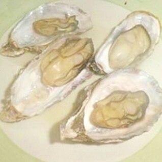 簡単☆殻つき牡蠣のレンジ蒸し♪