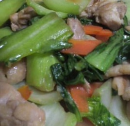 鶏肉とチンゲン菜の治部煮