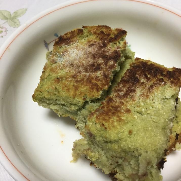 抹茶とヨーグルトのケーキ風